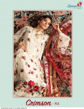 white top - cambric chickenkri work | bottom - soild cotton with embroidery patches | dupatta - butterfly net with heavy embroidery and tissue digital ( pakistani copy ) fabric chickenkari work | heavy embroidery work casual