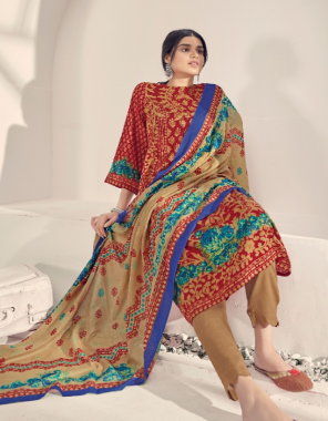 red top - cambric cotton 2.50 m | bottom - cotton printed 2.50m | dupatta - cotton printed 2.25 m fabric printed work festive