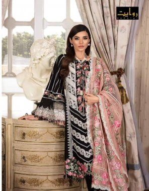 black top - pure cotton with embroidery | bottom - pure cotton | dupatta - nazmin chiffon with embroidery ( pakistani copy) fabric embroidery work casual