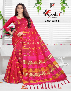 pink cotton silk fabric printed work festive