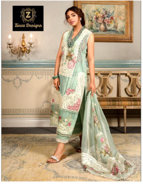 green top - cotton embroidery   dupatta - net pearl work embroidery   bottom - cotton ( pakistani copy) fabric embroidery work party wear