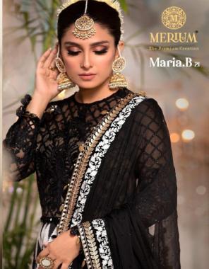 white top - georgette + net | inner - santoon | dupatta - net dupatta - ( pakistani copy ) fabric lace work + printed work festive