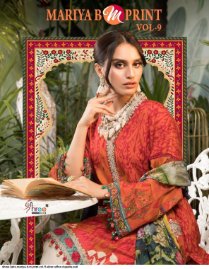 red top - pure cotton print with exclusive embroidery | bottom - semi lawn | dupatta - cotton mal mal ( pakistani copy ) fabric printed + embroidery work casual