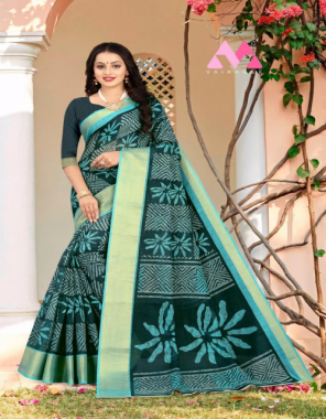 rama blue pure cotton  fabric printed work festive