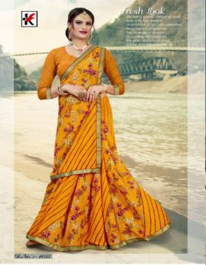 yellow renial fabric printed work casual