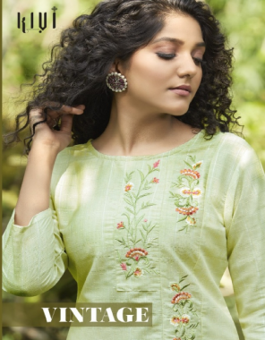 light green top - fancy lurex lining with embroidery work | pent - heavy rubby silk  fabric embroidery work party wear