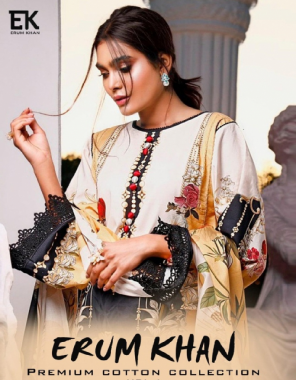 white top - cotton printed ( 2.35 m approx ) | bottom - cotton ( 2 m)| dupatta - cotton printed ( 2.25 m approx) fabric printed work ethnic