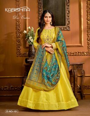 yellow top - tafeta butti | bottom & inner - santool | dupatta - patola print - bandhani print - jacquard silk  fabric embroidery  work casual