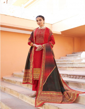 maroon top - pure lawn cotton with digital print with heavy embroidery   bottom -  pure lawn dyed  ( 2.80 m app)  dupatta - pure lawn mal mal fabric digital printed work casual