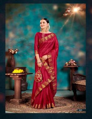 maroon silk fabric lace work work festive