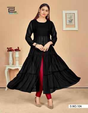 black georgette fabric plain work casual