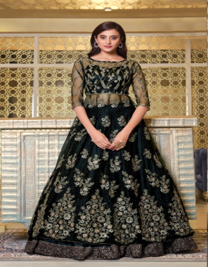 black top - heavy net sequance work | inner - satin | dupatta - net with work [ master copy ] fabric sequance work | embroidery work casual