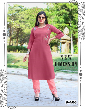 pink top - coral silk with inner | bottom - cotton pant designer work fabric embroidery work casual