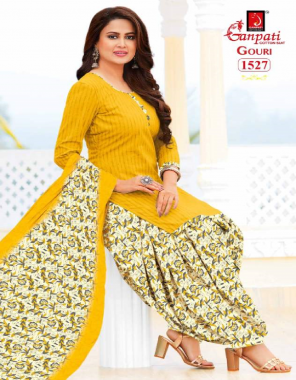 yellow pure cotton | top - 2.00 |bottom - 2.50 | dupatta - 2.25  fabric printed work casual