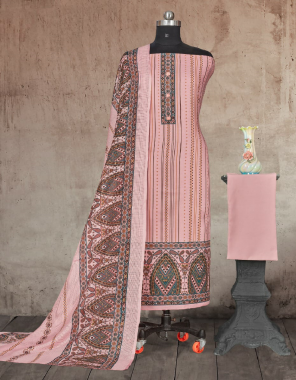 pink top - pure cotton print with button patti work 2.5 m | bottom - pure cotton dyed 2.7 m | dupatta - kota chex print 2.25 m fabric printed work party wear