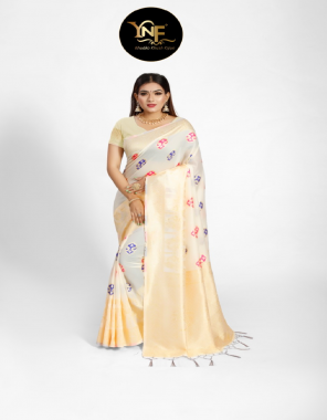 white silk fabric jacquard + weaving work casual