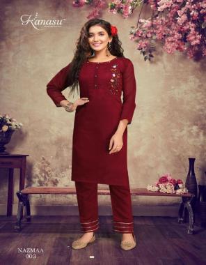 maroon heavy rajwadi silk chanderi fabric embroidery work festive