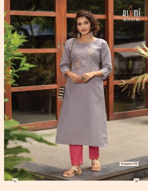 purple top - cotton milanch embroidery work | pant - cotton flex fabric embroidery work casual