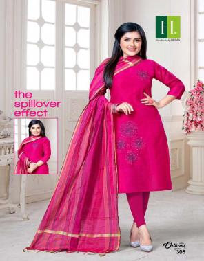 pink top - banglore silk slub | dupatta - banarasi silk | length - 44 fabric embroidery work festive