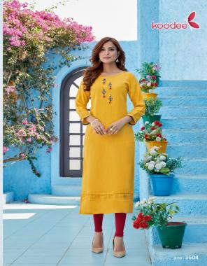 yellow top - heavy rayon milance  fabric hand work + khatli work work casual