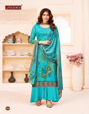 sky blue top - pure cambric cotton designer embroidery 2.50 m approx | bottom - 2.70 m approx pure cotton | dupatta - 2.10 m approx with arka lace fabric embroidery work casual