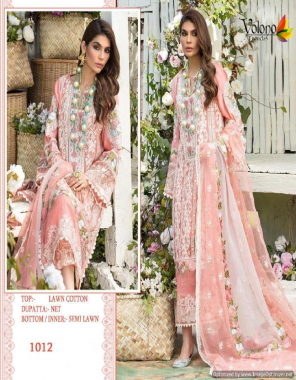 pink top- pure cotton with heavy self embroidery   bottom - semi lawn   dupatta - embroidered net [ pakistani copy ] fabric heavy self embroidery work casual