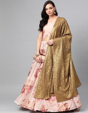 pink fabric - pure bt organza fabric printed + sequance work + zari work casual