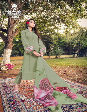 green top - pure georgette   inner - pure heavy santoon   bottom - imp pure cotton satin strachable fabric   dupatta - chiffon with digital print fabric embroidery work ethnic