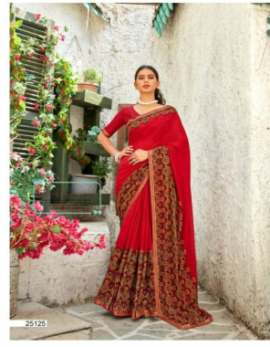 red super renial  fabric printed work casual