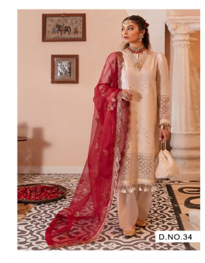 baby pink top - heavy fox georgette ( with embroidery ) | bottom - dual santoon | dupatta - heavy fox with heavy work [ pakistani copy ] fabric embroidery work casual