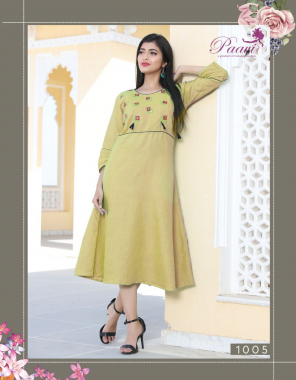 light green rayon fabric embroidery work casual