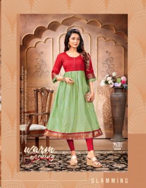 light green south aura silk with pattu daman fabric weaving work casual
