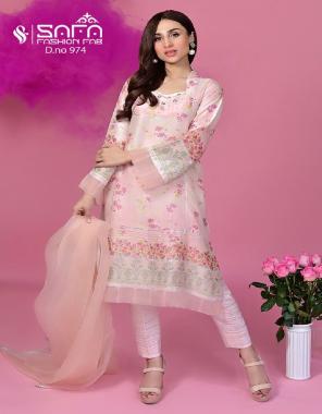 pink top - heavy maslin   bottom - cotton strachable   dupatta - designer dupatta fabric printed work casual