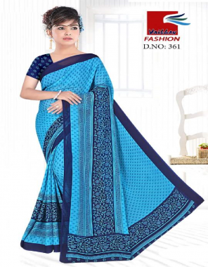 sky blue renial fabric printed work casual
