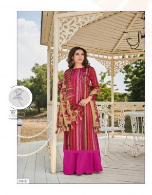 pink pashmina  fabric jacquard work festive