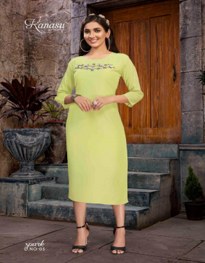 parrot green fancy maslin   length - 45 fabric embroidery work casual