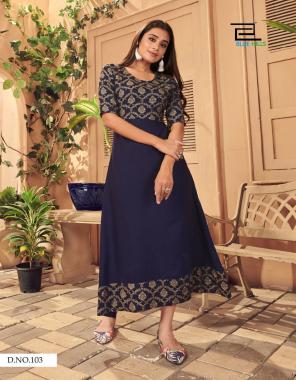 blue rayon | length - 50 inch  fabric printed work festive