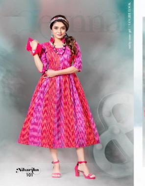 pink handloom cotton fabric printed work ethnic