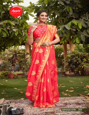 pink cotton silk fabric jacquard + weaving work casual