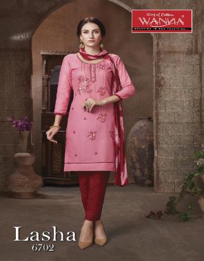 pink top / bottom - semi lawn | dupatta - nazmeen | top - 2.00m | bottom - 2.25m | dupatta - 2.25 m fabric embroidery  work casual