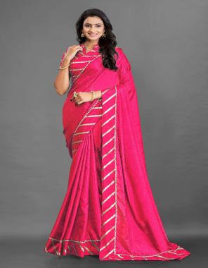 pink saree - silk cotton   blouse - silk with foil   saree length - 6.30 [ master copy ] fabric foil work work casual