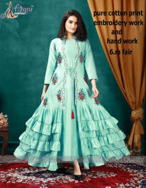 green cotton | inner - poli rayon | length - 56