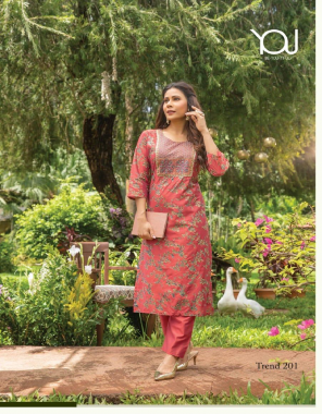 peach top - heavy & fancy chanderi print sober work embroidery | bottom - heavy quality chanderi pant fabric embroidery work casual