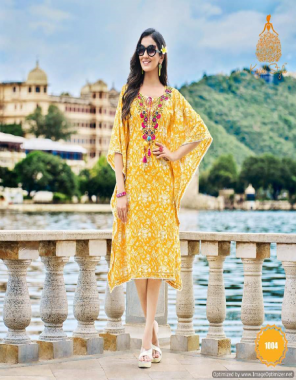 yellow heavy cotton fancy embroidery work | length - 44 fabric embroidery work casual
