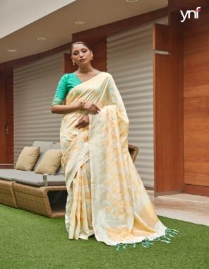 white art silk fabric jacquard + weaving work casual