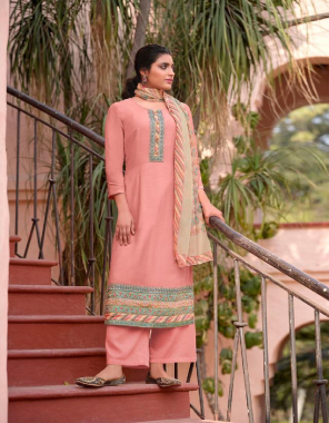 pink top - pure cotton silk with embroidery and digital print   dupatta - pure viscose organza   bottom - cotton satin fabric printed work festive