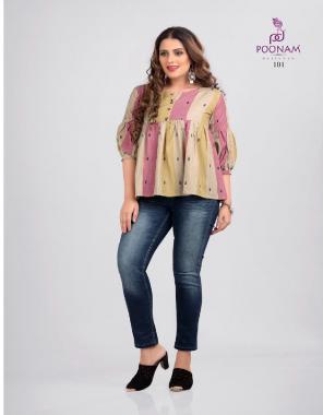 pink premium south cotton jacquard  fabric printed work festive