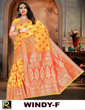 yellow weaving cotton silk fabric weaving work casual