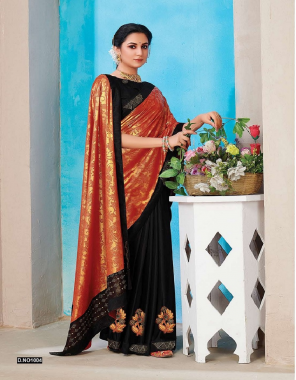 black vichitra silk fabric patch work work festive
