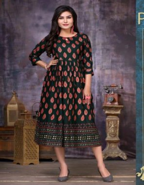 red hvy rayon fabric printed work feastval